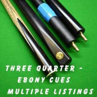 Cue Creator plain ebony three quarter cue