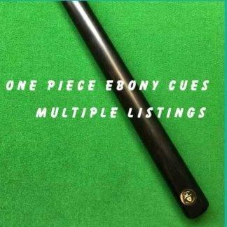 Cue Creator Plain Ebony Cues One Piece