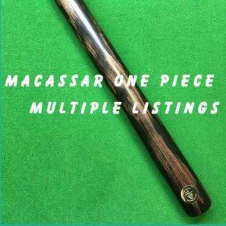 One Piece Macassar Billiard Cue